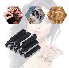 84Pcs Perm Rods Rollers Salon Hair Roller Curling Curler Rubber Hair Clip E4U0