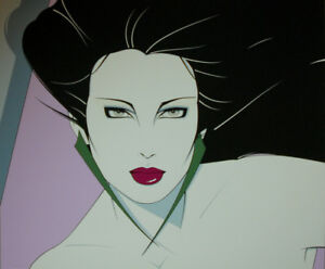 PATRICK NAGEL Plate Sign Seriograph Limited Edition Contemporary Woman Art Deco