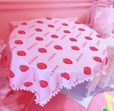 """Cute Strawberry 39""""x27"""" Washable Tablecloth Great for Home Party Holiday Dinner"""