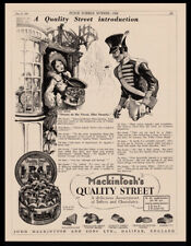 1936 Vintage Macintosh's Toffee & Chocolate print ad Victorian lady & soldier