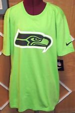 $28 - NWT NEW Seattle Seahawks NFL Nike Travel Pack Neon Green Shirt Size Medium
