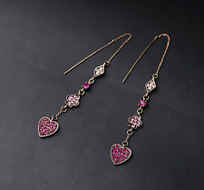 New Betsey Johnson Love Heart Shape Earrings US N322