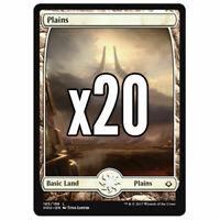 20x Full Art Plains Hour of Devastation - Magic MTG - Mint/NM Pack Fresh