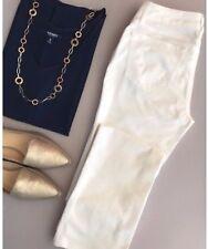 Zara Jeans Size 4 Womens White Skinny Straight Leg Cotton Blend Low Rise