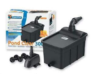 Superfish Teichfilter Set PondClear 3000 mit UVC + Pumpe (für Teiche max 3000 L)