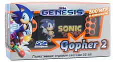 Sega Genesis Gopher 2 Portable Game Player Orange(SMD,SMS,SNES,NES,GBC)500 Games
