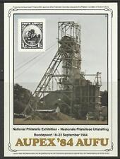 SOUTH WEST AFRICA 1984 AUPEX 84 PHILATELIC EXHIBITION SOUVENIR SHEET MINT