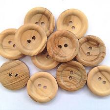 5 Bottoni in legno piatto 2 fori da 23 mm di diametro Taglia 36