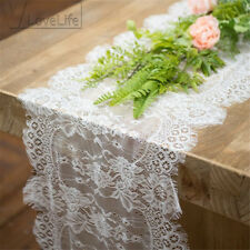 "14""x 120"" Lace Table Runner Vintage Rustic Wedding Bridal Baby Girl Shower Decor"