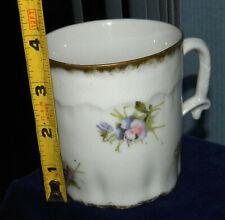 Vintage Porcelain CLASSIC FLORAL MUSTACHE Shaving MUG or CUP