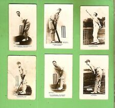 #D37. SIX 1923 / 1924 PALS AUSTRALIAN BOYS MAGAZINE CRICKET CARDS