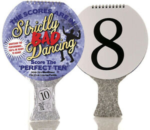 Bad Dancing Scoring Paddle Be The Judge Family Fun Play Along with The TV GIFT