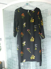 H&M dress euro40/uk12 black with floral pattern - beautiful !