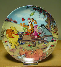 Bradford Exchange Plate - Harvest Time - Fun in 100 Acre Woods Collection