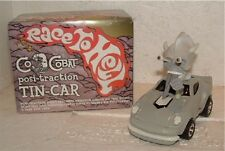 PUSHEAD COCOBAT RACE TO HELL POSI-TRACTION TIN CAR grayMIB! VERY RARE!!! MONSTER