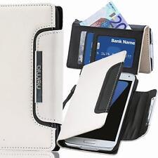 Handy Tasche Schutz hülle Wallet Case Cover für Samsung Galaxy A5 2017 WEISS