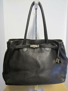 NWOT Francesco Rogani 'Kelly' Brown Leather Pebble Satchel Handbag