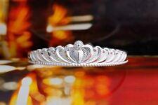 Sterling Silver Plated Crown Angel Adjustable Bangle Bracelet Women Xmas Gift UK