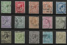 1912 Simple Cypher Set of 15 - Selected FU.  Includes 9d.Olive-Green. Ref:03182