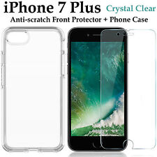 Apple iPhone 7 PLUS clear case cover and 4H anti-scratch front screen protector