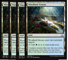 Woodland Stream  NM  x4 Rivals of Ixalan Land Uncommon