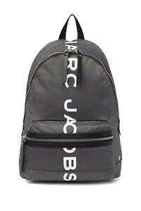 MARC JACOBS Suspiria Logo Print Nylon Backpack ~NWT~ Dark Grey
