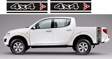 MITSUBISHI L200 Barbarian Warrior Animale a Righe Decalcomanie Adesivi Kit