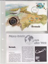 Numisbriefe aus aller Welt - Bermuda - und Infokarte