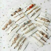 Pearl Hair Clip Slide Hair Pin Barrette Bridal Hair Accessory , 3Pcs/Set