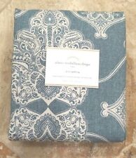 """POTTERY BARN ~ ALANA MEDALLION DRAPE in BLUE~ 50"""" X 96"""" ~ SOLD OUT"""