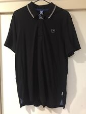 G Star Raw Mens Black Polo Shirt Sports Size Large Good Condition