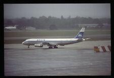 Orig 35mm airline slide Arista DC-8-62 SE-DBI [212-2]