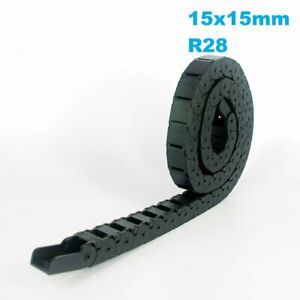 15x15mm R28 Nylon Energy Drag Chain Cable Wire Carrier CNC Router 3D Printer Mil