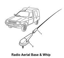 Vauxhall Vectra car antenna AM//FM EXTRA SHORT bee sting roof mast 16.5cm BLACK