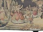 """Antique Tapestry Wall Dancing In The Moon Light Hanging 54""""x18"""" Made in Belgium"""
