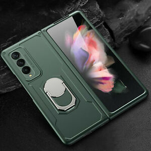 For Samsung Galaxy Z Fold 3 / Fold 2 5G Shockproof Rugged Ring Stand Case Cover