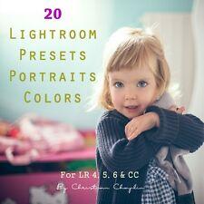 20 pack color portraits presets for lightroom 4, 5, 6 & cc