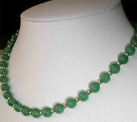 45cm, la nature verte de jade collier de perles