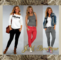 New ladies trousers women pants sport tracksuit  jogging bottoms size 8 10 12