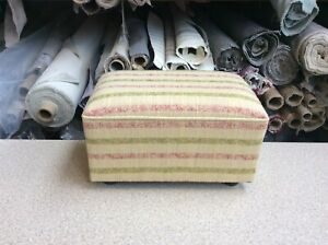 footstool / pouffe upholstered in Stripe fabric
