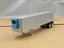 dcp/first gear silver/blue tandem axle 40ft reefer trailer new no box 1/64.