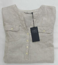 Marks and Spencer Women's Linen Long Sleeve Sleeve Casual Tops & Shirts