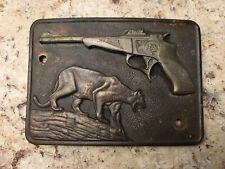 Thompson Center Arms Brass Badge Buckle