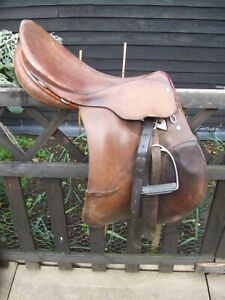 Ideal  Brown Leather Horse Saddle