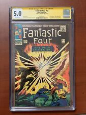 Fantastic Four #53 CGC 5.0 SS Signed By Joe Sinnott 2nd Black panther 1st Klaw