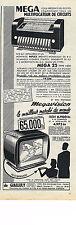 PUBLICITE ADVERTISING   1954    MEGA 25    MEGAVISION télécommande
