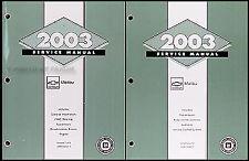 2003 Chevy Malibu Shop Manual 2 Volume Set Chevrolet OEM Repair Service Books LS