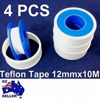4Pcs Teflon Tape 12mmx10M white thread PTFE plumbing tape plumbers sealing water