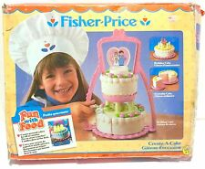 Vintage Fisher Price Fun With Food Create-A-Cake 100% COMPLETE IN BOX!! 1987