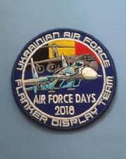 PATCH MILITARY UKRAINE BELGIUM AIR FORCE DAYS 2018 SU 27 FLANKER DISPLAY TEAM